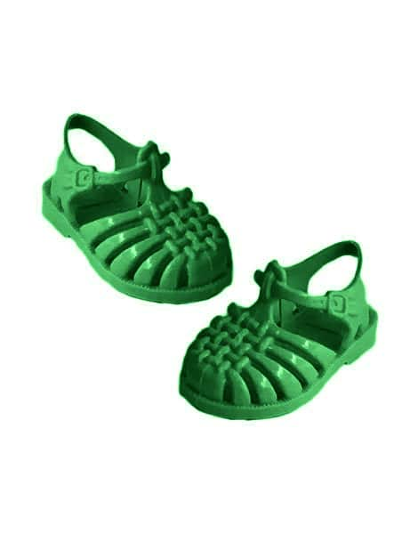 Jelly Sandals for Minikane Dolls in Grass Green