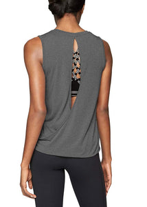 Mippo Womens Workout Athletic Top Backless Workout Shirt Activewear