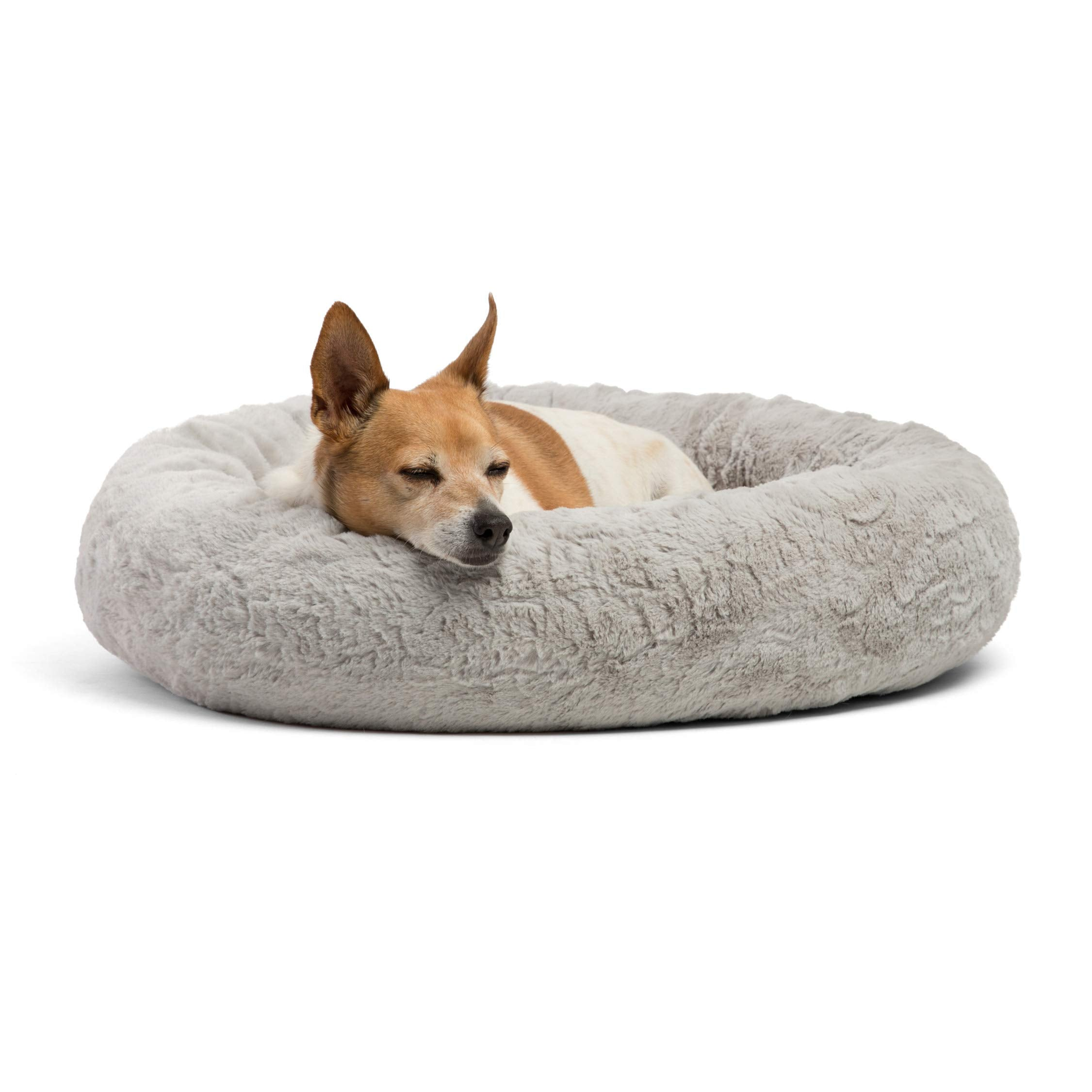 Best Friends by Sheri Luxury Faux Fur Donut Cuddler Cushion Bed, Orthopedic Relief