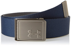 Under Armour Boy's Webbing 2.0 Belt, Academy//Silver, One Size Fits All