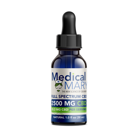 Full Spectrum CBD Oil – 2500 MG – Natural Flavor