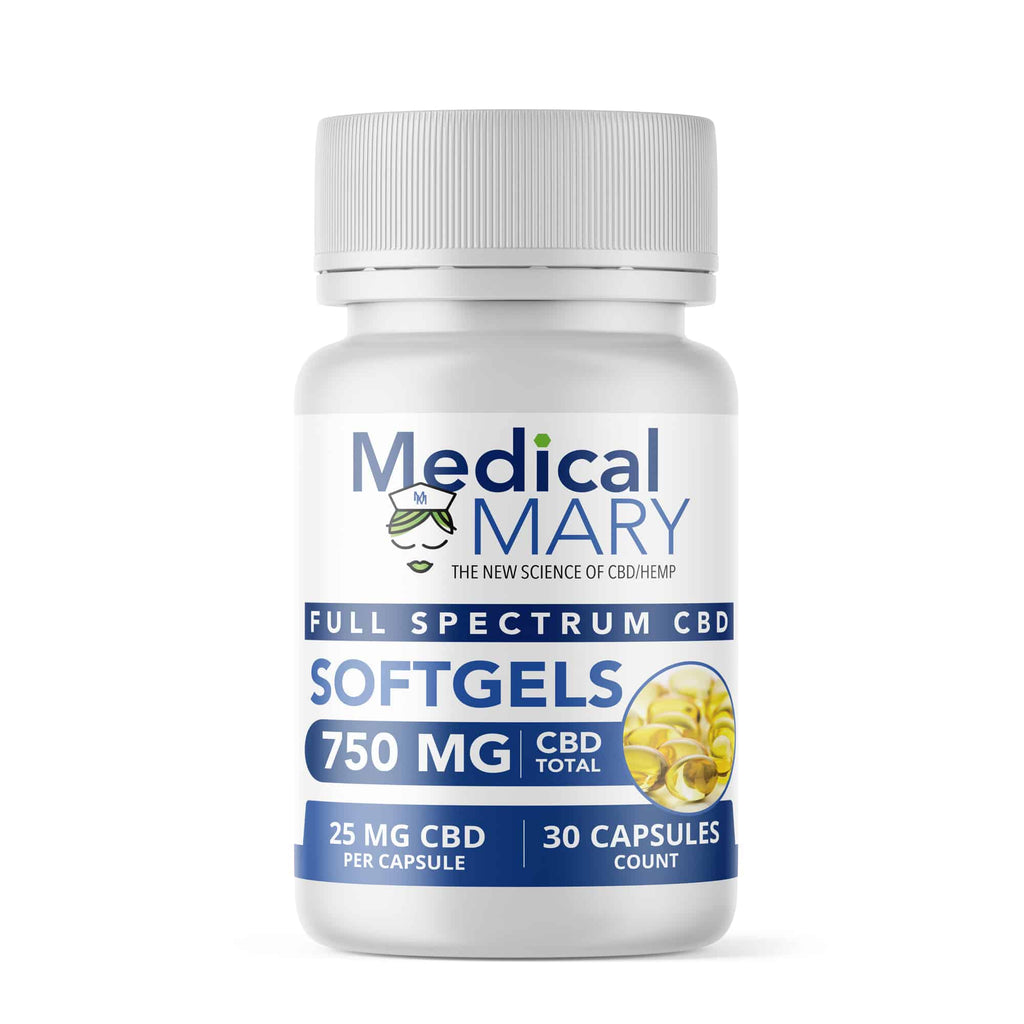 Full Spectrum Softgels – 750 MG CBD – 30 Count
