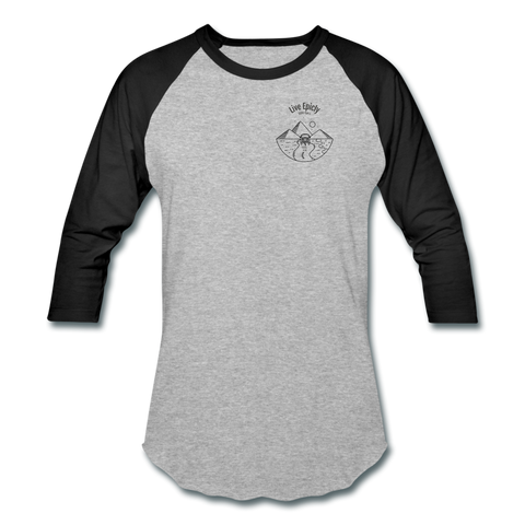 Live Epicly Raglan T-Shirt - heather gray/black