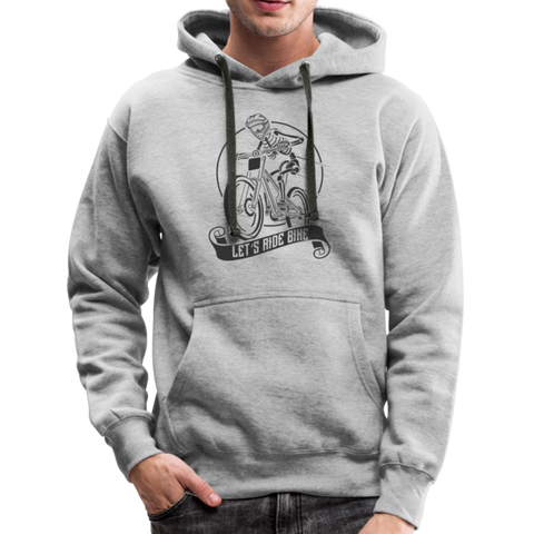 Let's Ride Bike Premium Heavy Hoodie - heather grey