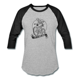Let's Ride Bike 3/4 Sleeve Shirt - heather gray/black