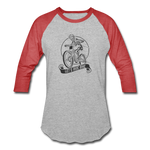 Let's Ride Bike 3/4 Sleeve Shirt - heather gray/red