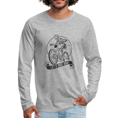 Let's Ride Bikes Premium Long Sleeve - heather gray