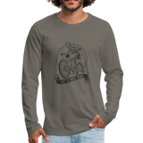Let's Ride Bikes Premium Long Sleeve - asphalt gray