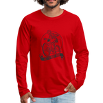 Let's Ride Bikes Premium Long Sleeve - red