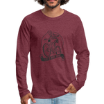 Let's Ride Bikes Premium Long Sleeve - heather burgundy