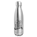 Let's Ride Bike Insulated Water Bottle - silver