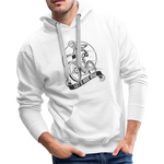 Lets Ride Bike Men's Premium Hoodie - white