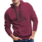 Lets Ride Bike Men's Premium Hoodie - burgundy