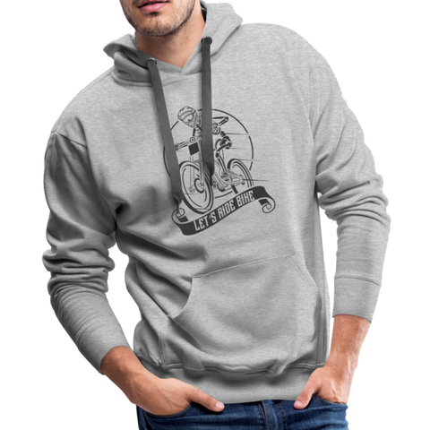 Lets Ride Bike Men's Premium Hoodie - heather gray