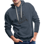 Lets Ride Bike Men's Premium Hoodie - heather denim
