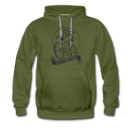 Lets Ride Bike Men's Premium Hoodie - olive green