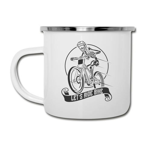 Let's Ride Bike Camper Mug - white