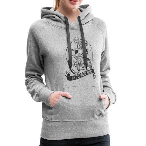 Let's Ride Bike aWomen's Premium Hoodie - heather gray