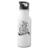 Lets Ride Bikes Water Bottle - white