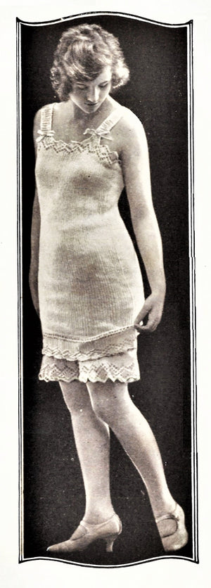 Ladies Undergarment Pattern, 1920's Knitted Wool Lingerie, Instant Download