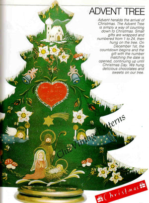 Christmas Tree Advent Calendar Pattern, Craft Pattern, Instant Download