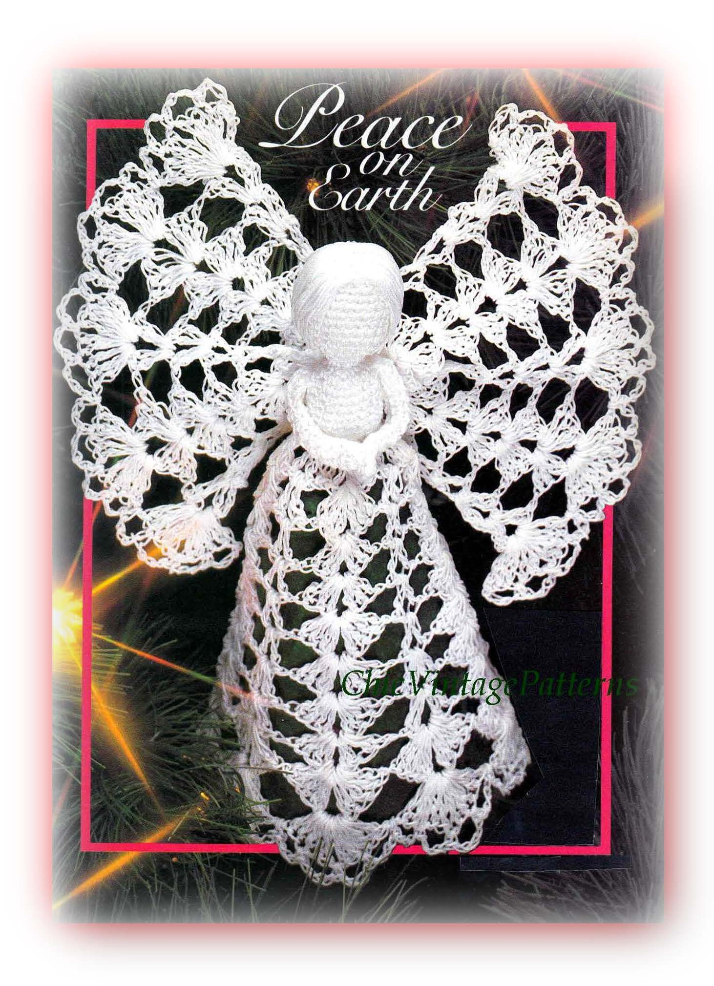 Christmas Angel Crochet Pattern, Tree Top Angel, Instant Download