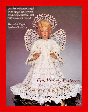 Crochet Angel Pattern, Christmas Decoration, Instant download