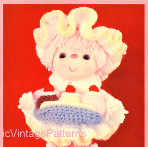 "Crochet Cupcake Corner Doll Pattern, ""Banana Split"", Digital Pattern"