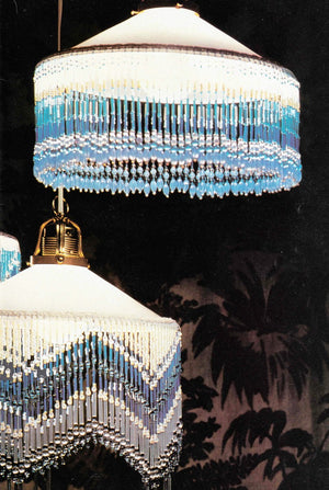 Beaded Lampshade Trim Patterns, Pendant Shades, Instant Download
