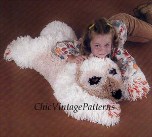 Floor Cushion Pattern, Bear Floor Cushion Hooking Pattern, Digital Download