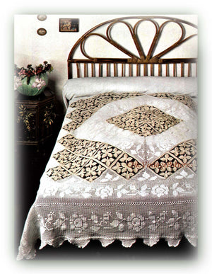 Crochet Bedspread Pattern, Stunning Heirloom Bedspread, Instant Download