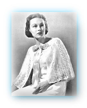 Ladies Bed Cape Knitting Pattern, Vintage Clothing, Instant Download