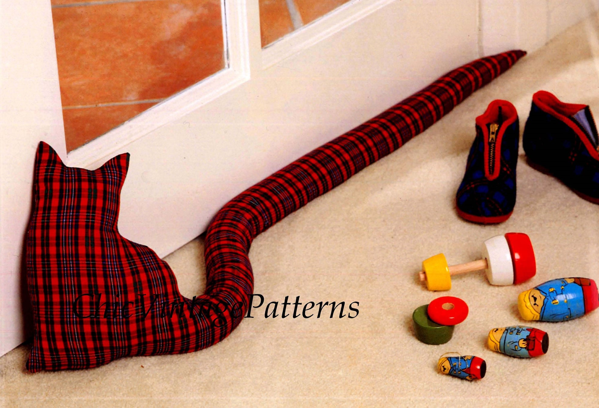 Easy-To-Make Cat Draught Stopper Sewing Pattern, Instant Download