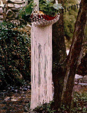 Macrame Plant Hanger Pattern, Garden Decor, Instant Download