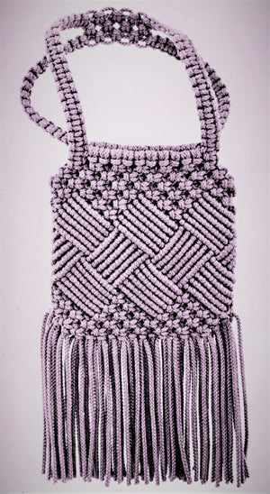 Macrame Shoulder Bag Pattern, Ladies Accessory, Instant Download