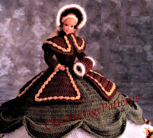 Christmas Doll's Dress Pattern, 11.1/2 inch Doll, Digital Download