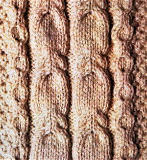 Aran Cardigan Pattern, His or Her Jacket Knitting Pattern, Digital Download