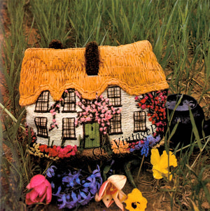Vintage Tea Cosy Embroidery Pattern, Country Cottage, Digital Download