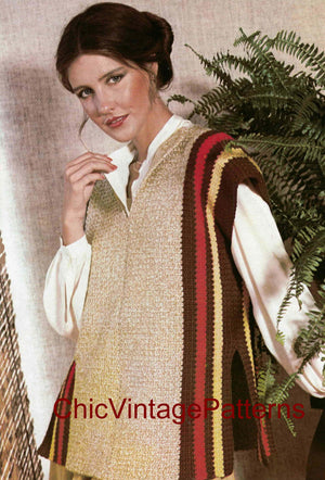 Easy-To-Crochet Ladies Tabard Pattern, Digital Download