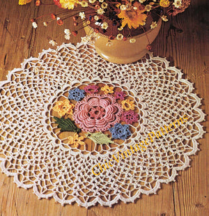 Crochet Doily Pattern, Irish Crochet Doily, Instant Download