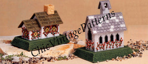 Plastic Canvas English Cottages Pattern, Instant Download