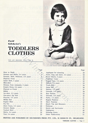 "1960's Enid Gilchrist ""Toddlers Clothes"" PDF Book, Self Drafting Book, Instant Download"