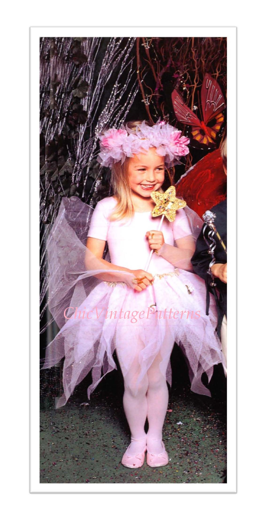 Fairy Dress for Young Girl, Instant Download Pattern