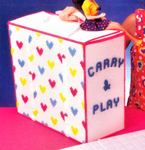 Plastic Canvas Carry & Play Floor and Tote Pattern, 11.1/2 inch Doll, Digital Download