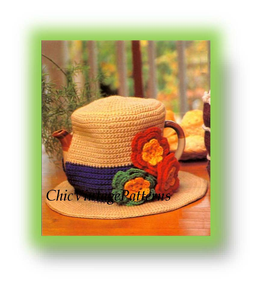 Vintage Crochet Tea Cosy Pattern, Ladies Hat, Instant Download