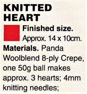 Knitted Heart Pin or Small Cushions, Wedding Items, PDF Knitting Pattern