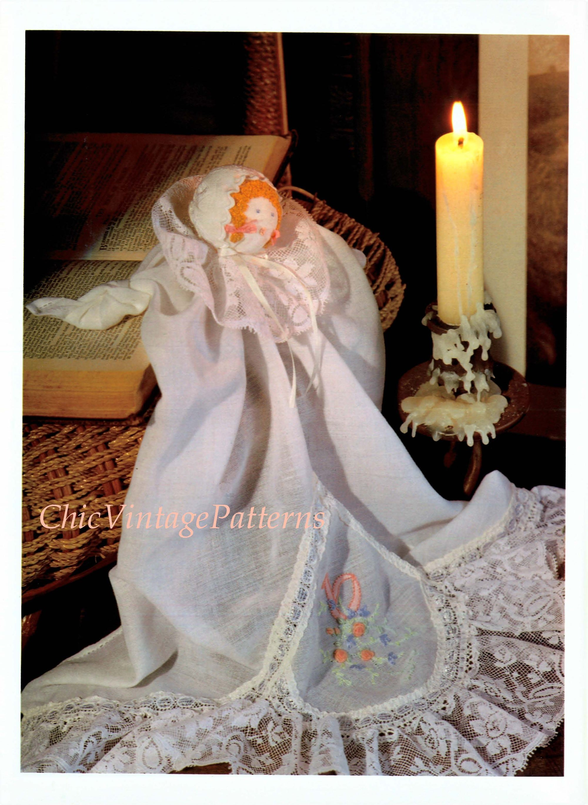 Heirloom Church Doll Sewing Pattern, Digital Download