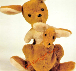 Kangaroo and Joey Toy Sewing Pattern, Australian Kangaroo, Instant Download