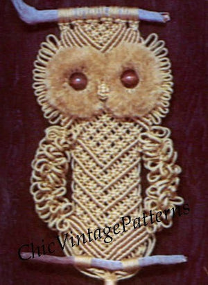 Macrame Owl Wall Hanging Pattern, Digital Download Pattern