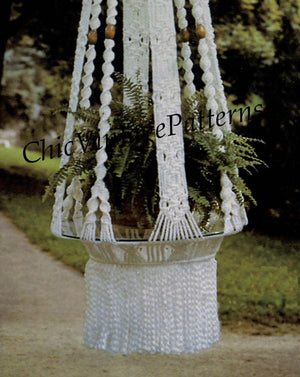 Macrame Hanging Table Pattern, Garden Decor, Instant Download